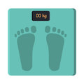 Bathroom Foot Scale Isolate. Weight Control Vector Royalty Free Stock Photo