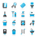 Bathroom and hygiene objects icons Royalty Free Stock Photo