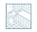 Bathroom Icon white Royalty Free Stock Photo