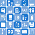 Bathroom icons Royalty Free Stock Photo