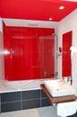 Interiér koupelny v luxusním hotelu