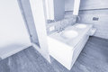 Bathroom interior in new luxury home. Royalty Free Stock Photo