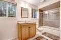Bathroom interior with screened bath tub Stock Photography