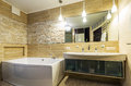 Bathroom in luxury home Royalty Free Stock Photo
