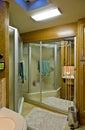 Bathroom in motor home Royalty Free Stock Photo