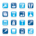 Bathroom and personal care icons vector icon set Royalty Free Stock Images