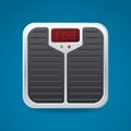 Bathroom Scale With Electronic Display Unit Stock Photos