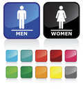 Bathroom signs 2 Stock Photo