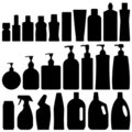Bathroom Silhouette Set Vector Stock Image