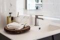 Bathroom sink clean contemporary image Royalty Free Stock Photos