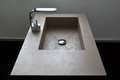 Bathroom sink a modern grey with faucet Royalty Free Stock Photo