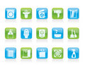 Bathroom and toilet objects and icons Royalty Free Stock Photo