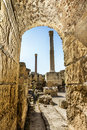 Baths of antonius in carthage tunisia sunny day Royalty Free Stock Images