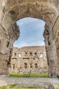 The baths of caracalla in rome italy terme di were second largest roman public or thermae built Royalty Free Stock Photography