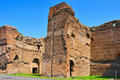 Baths of caracalla in rome italy a view the remains the Stock Photos