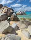 Baths on Virgin Gorda, Royalty Free Stock Photos