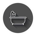 Bathtub vector icon.