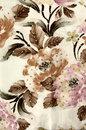 Batik background with fabric texture flower Stock Images