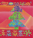 Batik christmas tree Stock Photo