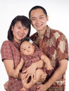 Batik family close up of with clothing Stock Images