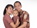 Batik family close up of with clothing Stock Photo