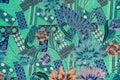 Batik pattern background colorful Royalty Free Stock Image