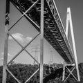 Batman Bridge by the Tamar river near Sidmouth. Royalty Free Stock Photo