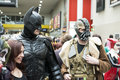 Batman cosplayers Royalty Free Stock Photos