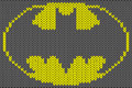 Batman Logo Knitted Ornament V...
