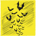 Bats flying illustration of black Stock Images
