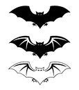 Bats silhouettes halloween vector illustration Stock Photo