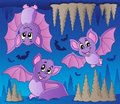 Bats theme image 1 Royalty Free Stock Photography