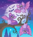 Bats theme image eps vector illustration Royalty Free Stock Photography