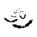 The bats vector Royalty Free Stock Photo