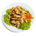 Battered chicken on a plate Royalty Free Stock Photos