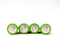 4 batteries Royalty Free Stock Photo