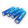 Batteries quatre d'aa Photographie stock libre de droits