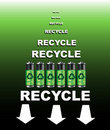 Batteries recycle poster Royalty Free Stock Photography