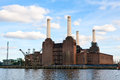 Battersea power station abandonded in london Royalty Free Stock Image