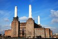 Battersea power station on the bank of the river thames in london england uk Royalty Free Stock Images