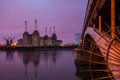 Battersea powerstation the iconical next to the river thames in the city of london in england europe Royalty Free Stock Photos