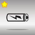 Battery black Icon button logo symbol