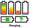Battery charge icons isolated on white Royalty Free Stock Images