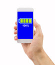 Battery charged Royalty Free Stock Photo