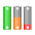 Battery charging symbols set of batteries with different levels isolated on white background Stock Images