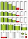 Battery collection sizes Royalty Free Stock Photography