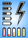 Battery and electricity power icon