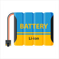 Battery energy electricity tool vector illustration.
