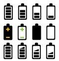 Battery icon on white background Stock Image