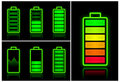 Battery icons Stock Photos